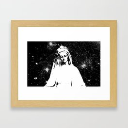 Mary Watches from the Heavens Framed Art Print