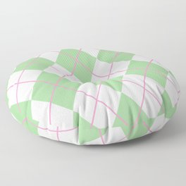 Green Argyle Floor Pillow