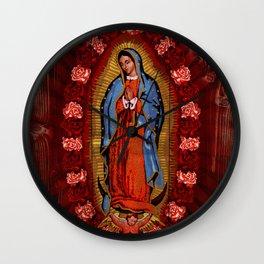 Virgin de Guadalupe Wall Clock