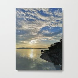 Early morning clouds of archipelago seascape Metal Print