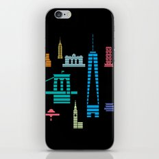 New York Skyline One WTC Poster Black iPhone & iPod Skin