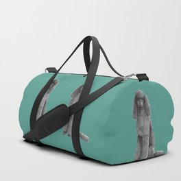 Poodle - standard black Duffle Bag