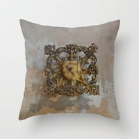 medieval Throw Pillows featuring Medieval Flair by Imaginibus