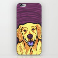 golden retriever iPhone & iPod Skins featuring Golden Retriever by Gianna Brucato