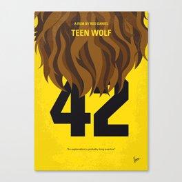 No607 My Teen Wolf minimal movie poster Canvas Print