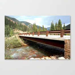 Bridge Over Mineral Creek Canvas Print