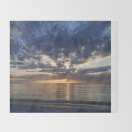 Gulf Coast November Sunset Throw Blanket