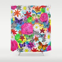 florence Shower Curtains featuring Florence  by sarah illustration