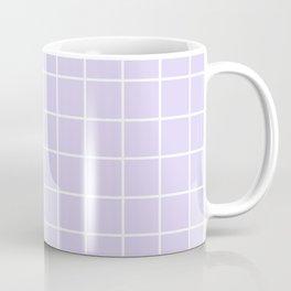 Lavender white minimalist grid pattern Coffee Mug