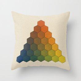 Lichtenberg-Mayer Colour Triangle (Opera inedita - Vol. I, plate III), 1775, Remake, vintage wash Throw Pillow