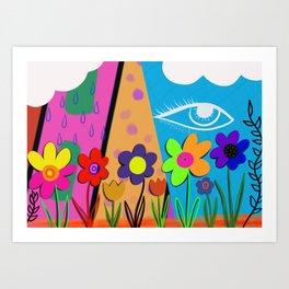 Floral Eye Art Print
