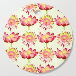 Lotus flowers pattern #lotus #flower Cutting Board