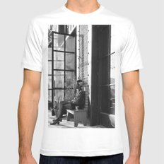 Los Angeles Arts District III White Mens Fitted Tee MEDIUM