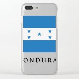 Honduras flag Clear iPhone Case
