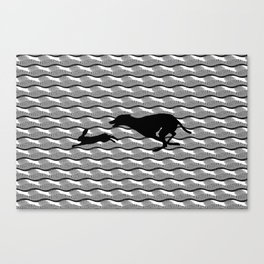 Death Inspires Me Like a Dog Inspires a Rabbit Canvas Print