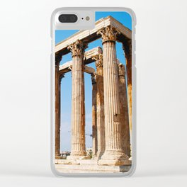 Temple of Olympian Zeus - Athens Greece Clear iPhone Case