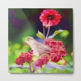 Bird Peace Garden Metal Print
