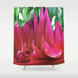 379 - Abstract Flower Design Shower Curtain