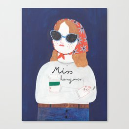 Miss Hangover Canvas Print