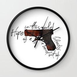 hope bleeds Wall Clock