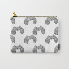 Flying Great Grey Owl pattern Carry-All Pouch