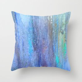 Edges of the Sky in Blues, Aquas and Green Throw Pillow