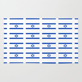 flag of israel 2 - יִשְׂרָאֵל ,israeli,Herzl,Jerusalem,Hebrew,Judaism,jew,David,Salomon. Rug