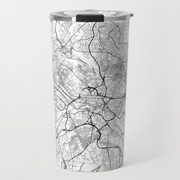 Leeds Map White Travel Mug