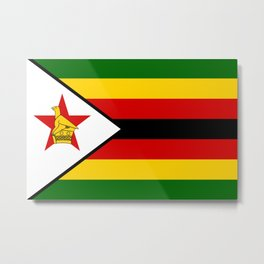 Flag of Zimbabwe Metal Print