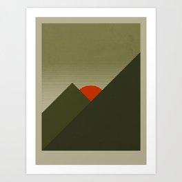 Forest Mountain Art Print