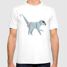 Baboon Origami White Mens Fitted Tee MEDIUM