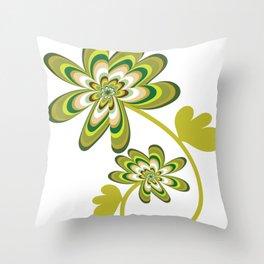 Green Streak Throw Pillow