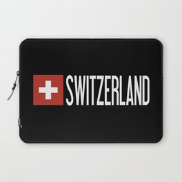 Switzerland: Swiss Flag & Switzerland Laptop Sleeve