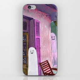 ghost house iPhone Skin