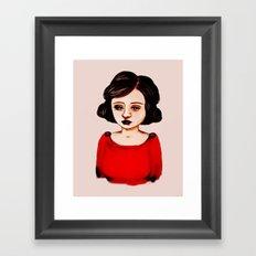 The Red Dress Framed Art Print