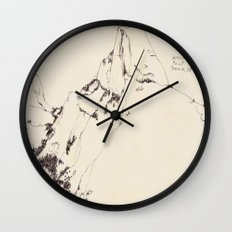 Yosemite Glacier Point Drawing Wall Clock