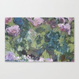 Spring garden, impressionist painting Canvas Print