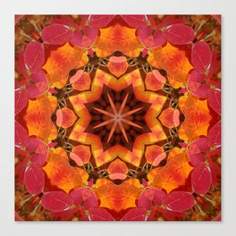 Serviceberry mandala tapestry II Canvas Print