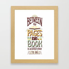 Between pages Framed Art Print