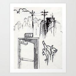 EXIT SERIES 1 Art Print
