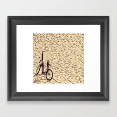 Bike on the Sand Framed Art Print