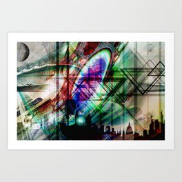 London Stadt Art Print