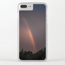 Sunset Rainbow Clear iPhone Case