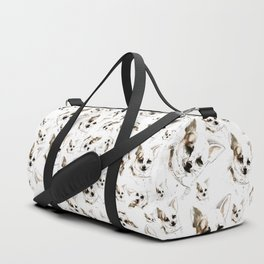 Chihuahua watercolor pattern Duffle Bag