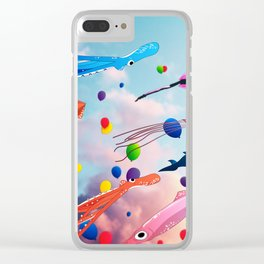 Flying Away Clear iPhone Case