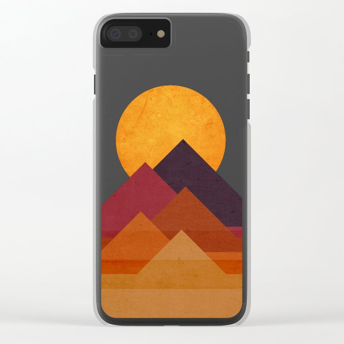 Full moon and pyramid Clear iPhone Case