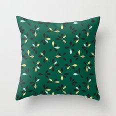 loves me loves me not pattern - hunter green Throw Pillow