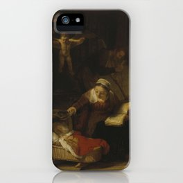 Holy Family - Rembrandt iPhone Case
