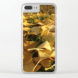 Yellow fall Clear iPhone Case