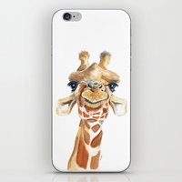 iPhone & iPod Skins featuring Giraffe  by Tussock Studio